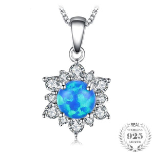 JewelryPalace 0.6ct Created Black Opal Princess Diana Halo Pendant Necklace 925 Sterling Silver 18 Inches hot selling gift