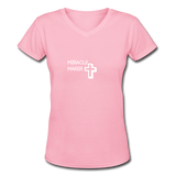 Women's V-Neck T-Shirt - pink