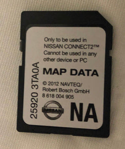 Nissan Connect2 Navigation SD Map Card 259203TA0A
