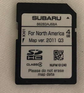 Subaru Navigation SD Map Card 86283AJ68A