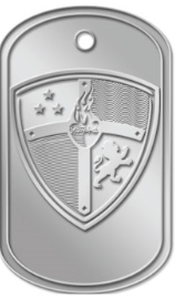 Conquest Dog Tag with Conquest Shield