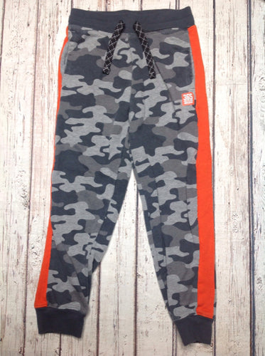 365 Kids GRAY & ORANGE Camouflage Sweatpants