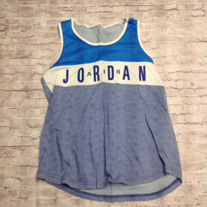 AIR JORDAN Blue & White Logo Top