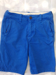 Abercrombie & Fitch Blue Solid Shorts