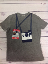 Abercrombie & Fitch GRAY PRINT Camera Top
