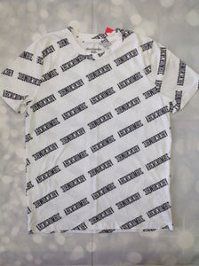 Abercrombie & Fitch White Print Logo Top