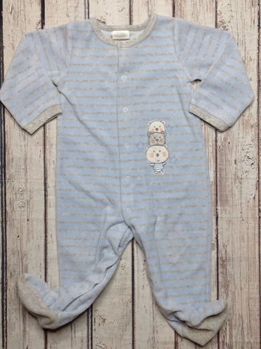 Absorba Baby Blue & Gray One Piece