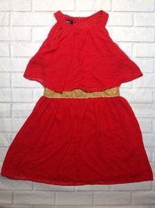 Amy Byer RED & GOLD Dress