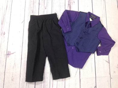 Andrew Fezza Black & Purple Suit