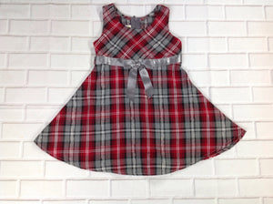 Ashley Ann RED & GRAY Dress