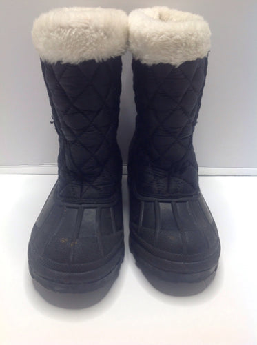 Athletech Black & White YG Footwear Snowboots