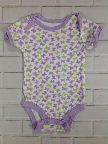 BABIES R US White & Purple Onesie