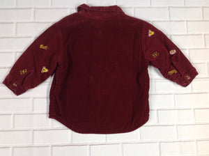 BT Kids MAROON & YELLOW Football Top