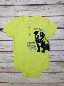 Babiesrus Green Print Top
