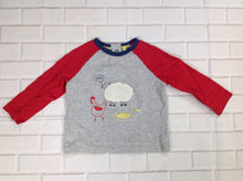 Baby Boden GRAY & RED Top