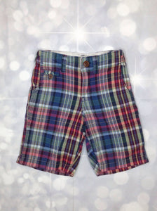 Baby Gap Blue & Green Plaid Shorts