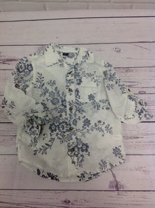 Baby Gap Blue & White Floral Top