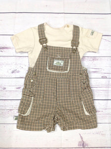 Baby Headquarters Brown & Tan 2 PC Outfit