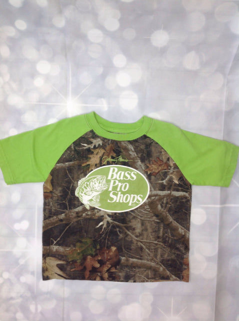 Bass Pro Shop Green & Brown Camouflage Top