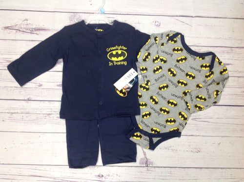 Batman NAVY & GRAY 3 PC Outfit
