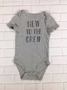 CLOUD ISLAND GRAY PRINT Onesie