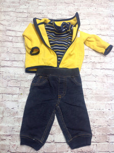 Carters BLUE & YELLOW 3 PC Outfit