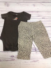 Carters BROWN & BEIGE 2 PC Outfit