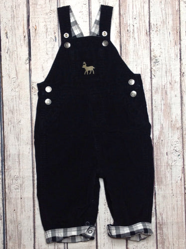 Carters Black & White Overalls