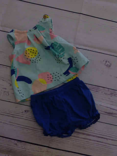 Carters Blue & Beige 2 PC Outfit