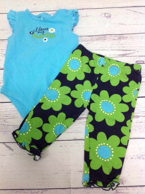 Carters Blue & Green 2 PC Outfit