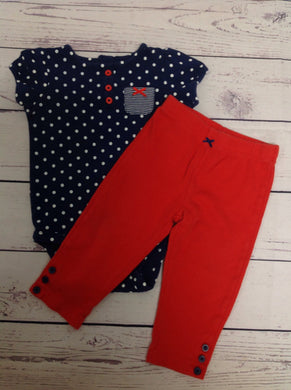 Carters Blue & Red 2 PC Outfit