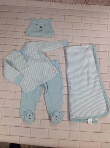 Carters Blue & White 4 PC Outfit