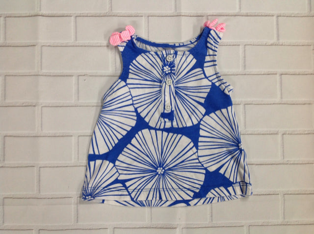 Carters Blue & White Top