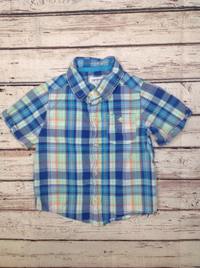 Carters Blue Print Top