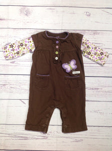 Carters Brown & Purple One Piece