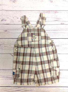 Carters Brown Print Shortalls