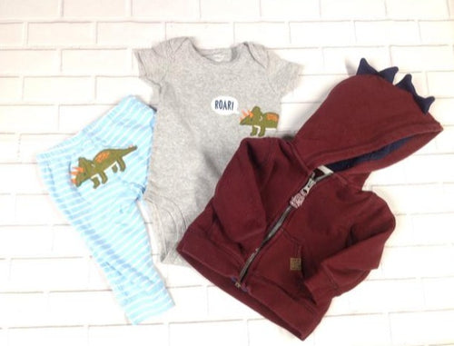 Carters Burgondy 3 PC Outfit