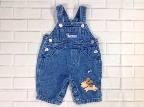 Carters Denim Print Overalls