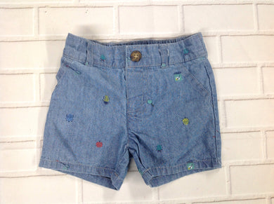 Carters Denim Print Shorts