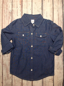 Carters Denim Solid Top