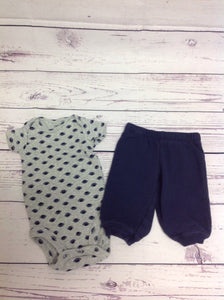 Carters GRAY & NAVY 2 PC Outfit