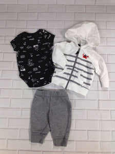 Carters GRAY & WHITE 3 PC Outfit