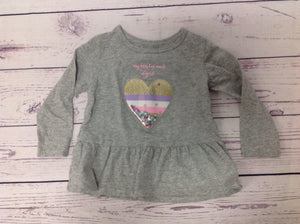 Carters GRAY PRINT Top