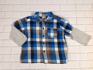 Carters Gray & Blue Top