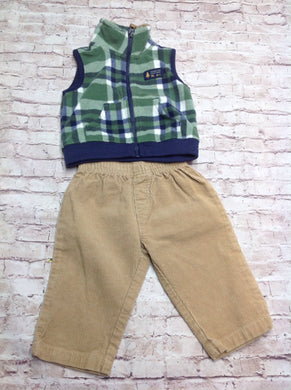Carters Green & Blue 2 PC Outfit