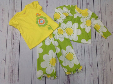 Carters Green & Yellow Sleepwear