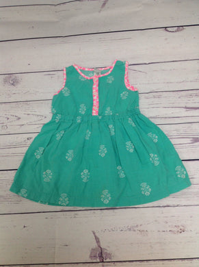 Carters Green Print Dress