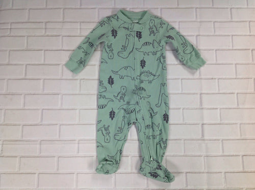 Carters Green Print Sleepwear