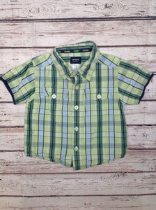 Carters Green Print Top