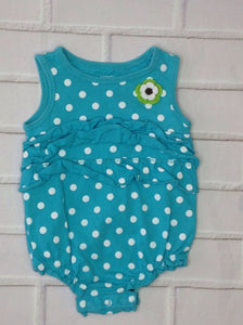Carters LIGHT BLUE PRINT One Piece